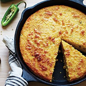 Spicy Jalapeño Corn Bread   Made this last night and it was AMAZING (I skipped the oil).  Serve with chili and enjoy!