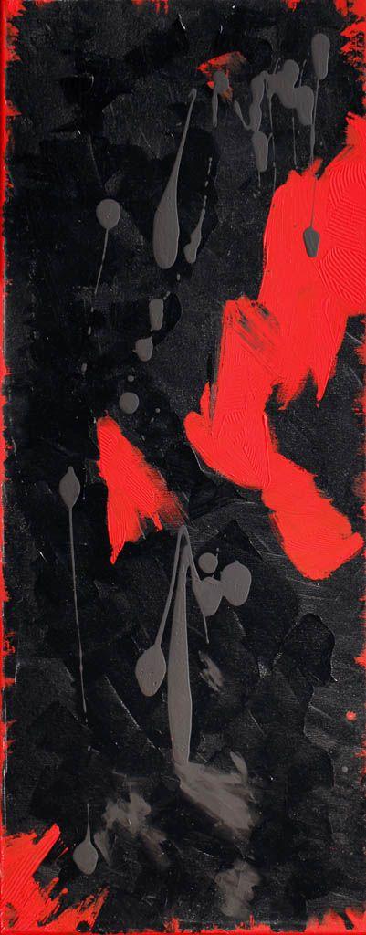 Дарья Багринцева, Различие характеров, 40x100см, Холст, акрил, Настроение, Абстрактный экспрессионизм, 2008