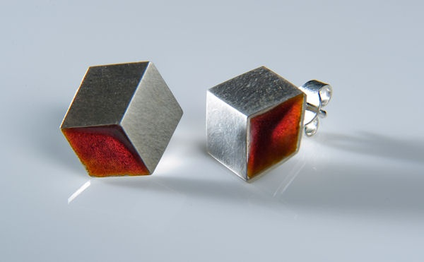 Earrings Cubes, made exclusively for Cubista by J.Kučera  $75