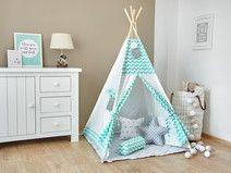Tipi - Namiot dla Dzieci - Miętowy Zyg-Zag