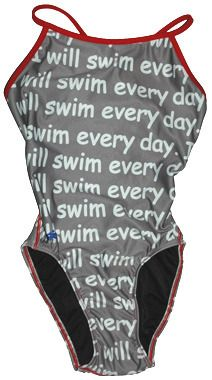Girls swimsuit - I swim everyday. And practice everyday. And race everyday. #swimming #swimsuit
