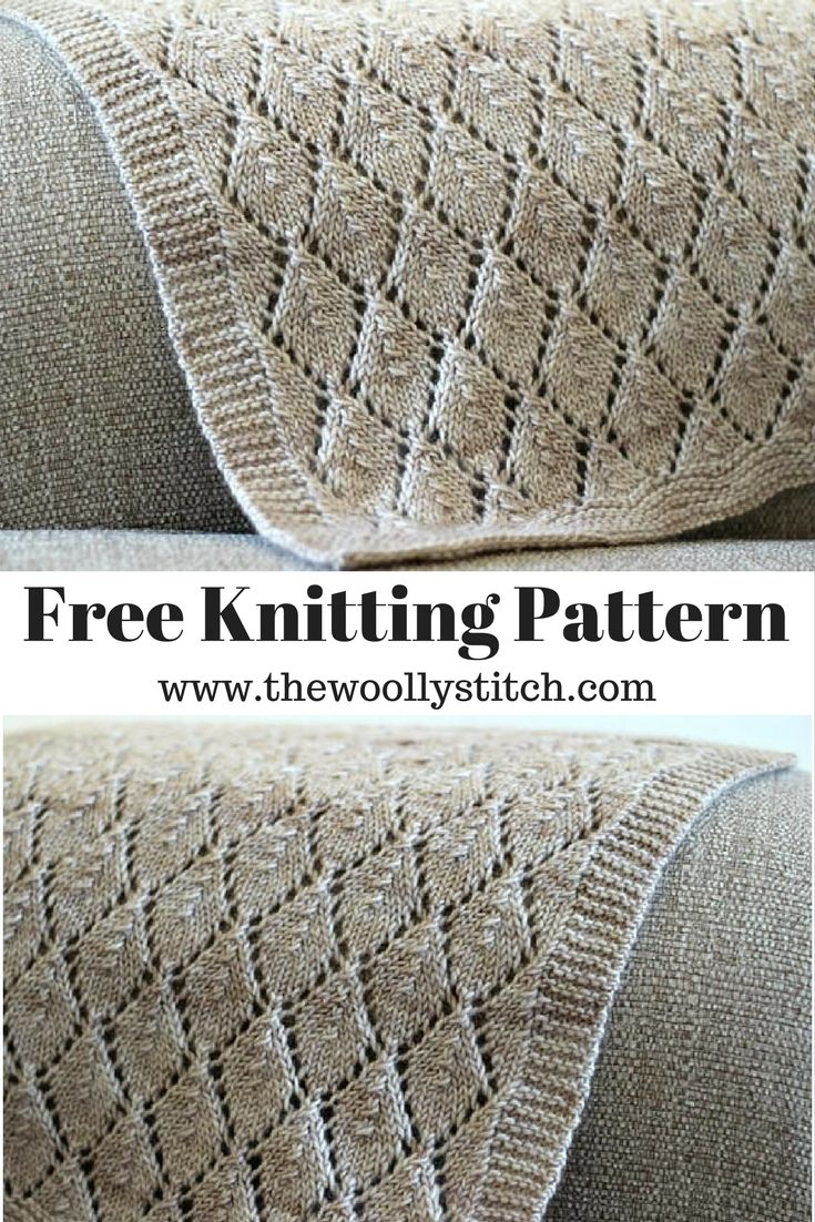 Beau Worsted Blanket - Free Knitting Pattern