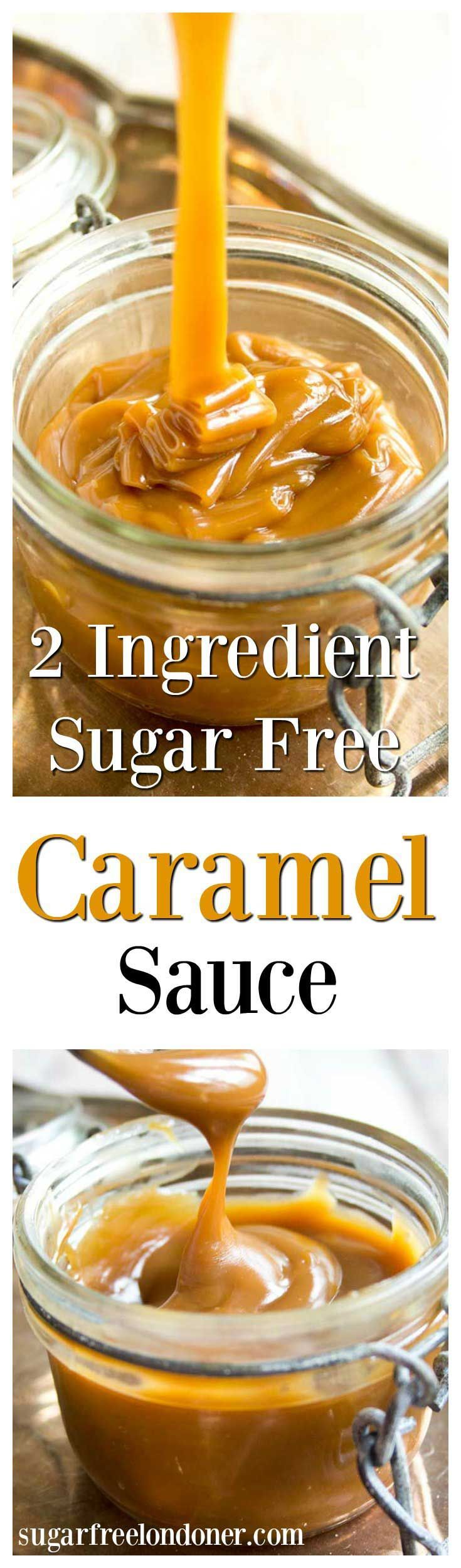 The best things in life are simple - like this 2 ingredient sugar free caramel sauce. Low carb, vegan and delicious, it can be used in candy or as a topping for ice cream, cakes, pancakes or waffles.