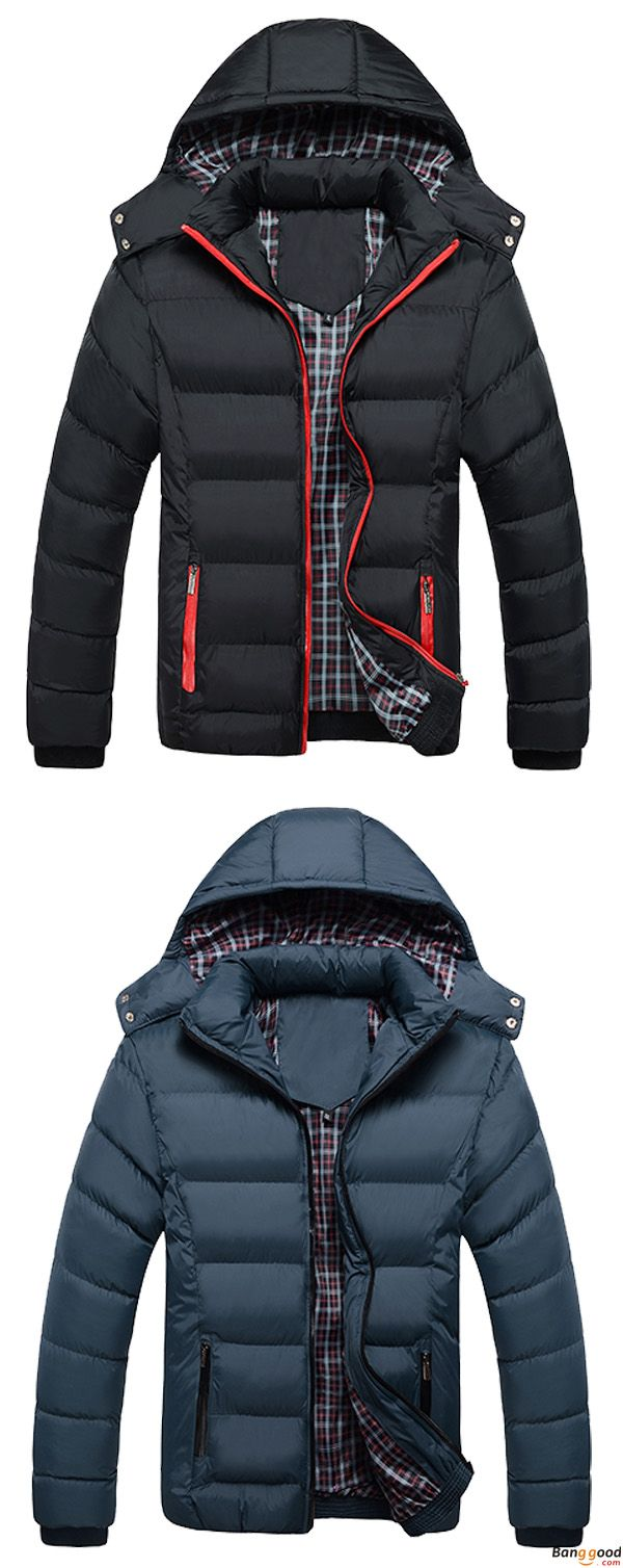 US$52.66 + Free Shipping. Mens Thick Solid Color Winter Hooded Deatchable Coat Slim Warm Jacket. Color: Black, Navy, Blue. Come in and Warm You Up.