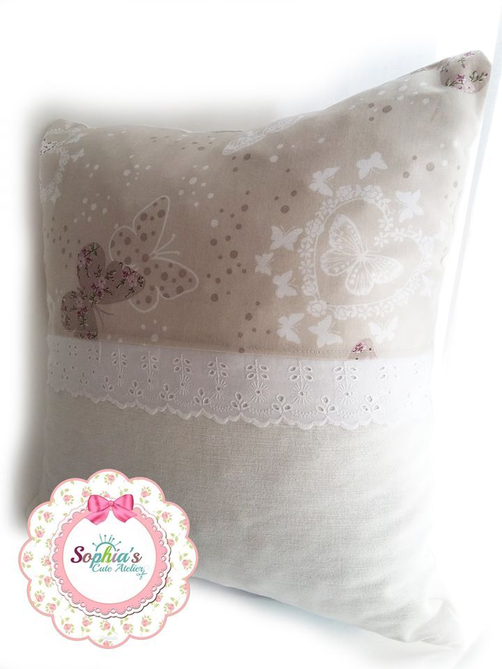 Handmade Romantic Pillow ~ You are very welcome to visit our services:  www.facebook.com/SophiasCuteAtelier/