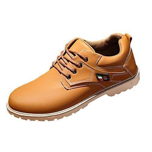 Oferta: 17.82€. Comprar Ofertas de Tefamore Zapatos Hombre Botas Martín de Suave Zapatilla de Casual Forrado de Piel Caliente Otoño e Invierno (US :9.5, Caqui) barato. ¡Mira las ofertas!