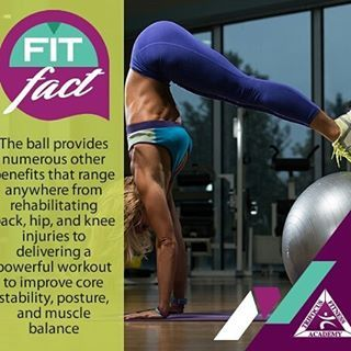 Exercise and training with ball #goals #fitfact #ballexercises #benefits #growth #workout #fitness #train #balance #coremuscles #stability #amped #physique #gymlife #dailyaffirmation  http://www.trifocusfitnessacademy.co.za/