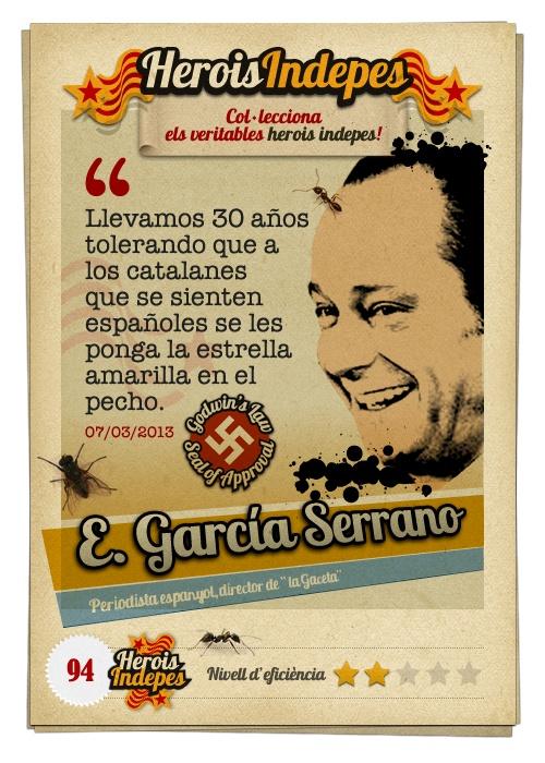 """#HeroisIndepes 94. Eduardo García Serrano: """"Llevamos 30 años tolerando que a los catalanes que se sienten españoles se les ponga la estrella amarilla en el pecho."""""""