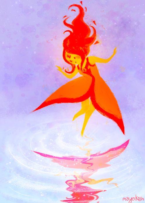 Принцесса пламя картинки карандашом