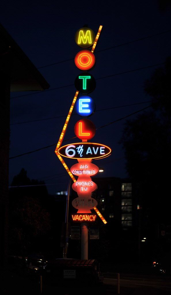 6th Ave Motel sign from the 1950s, Portland OR