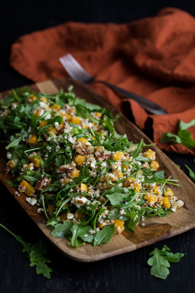 Roasted Butternut Squash, Quinoa, and Arugula from @NaturallyElla Saving for Meatless Monday.