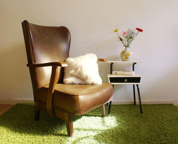 25 beste idee n over bruine lederen meubels op pinterest for Bruine leren stoel
