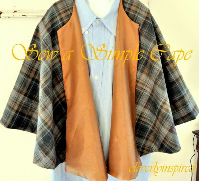 how to sew a cape @cleverlyinspired (1)
