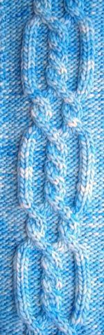 How to knit Criss Cross Cable With Twists from the Knitting library.  Knitting library is a great resource for knitting patterns and stiches.