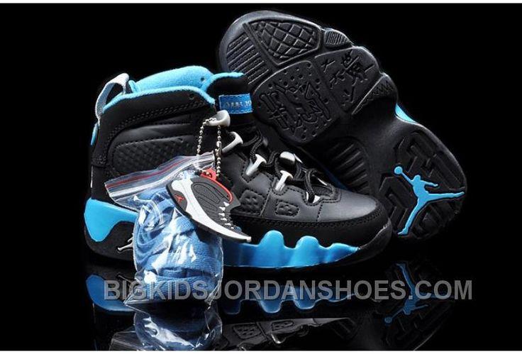 http://www.bigkidsjordanshoes.com/online-cheap-nike-air-jordan-9-kids-black-blue.html ONLINE CHEAP NIKE AIR JORDAN 9 KIDS BLACK BLUE Only $85.00 , Free Shipping!