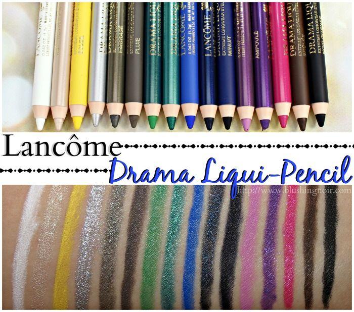 Lancôme Drama Liqui-Pencil Longwear Eyeliner Swatches