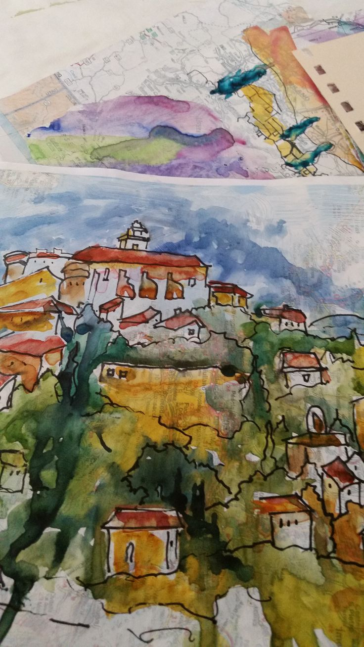 Watercolor artist magazine subscription - Watercolor Painting On A Map
