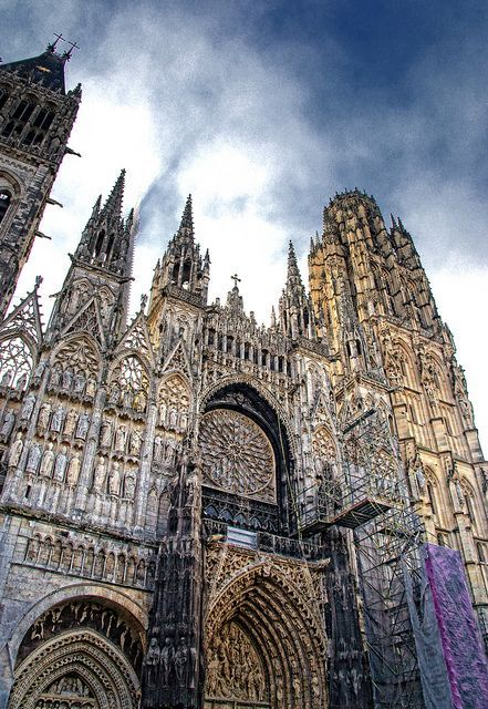 France Travel Inspiration - Rouen cathedral. One of our relatives was buried there. Rollo, duke of Normandy