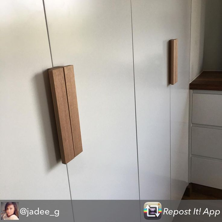 See this Instagram post by @auburnwoodturning • 117 likes Thank you to our customer @jadee_g for sharing this photo of newly installed robes fitted with Hira handles. The darker stain works so well.