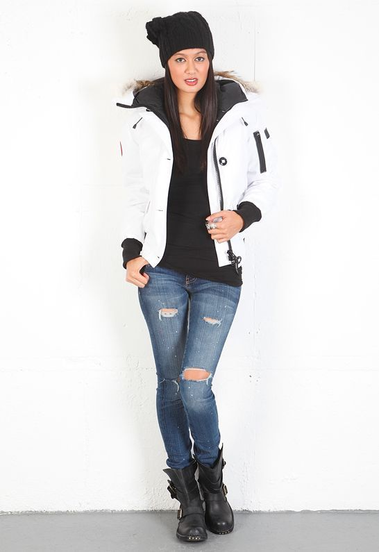 26b142a91 Canada Goose Chilliwack Bomber in White - as seen on Kate Upton ...