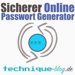 Sicherer Online Passwort Generator