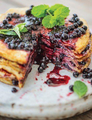Sweet Paul's Nordic Pancake Cake - Summer 2013 - Page 136-137 My little grandson called this the pancake cake!