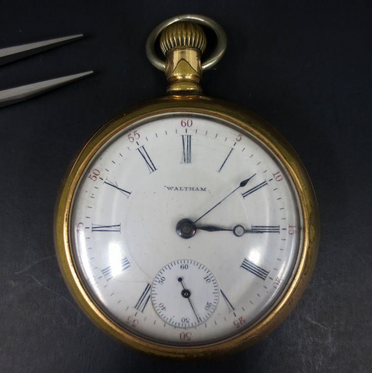 Antique 1902 Waltham Bartlett Railroad Pocket Watch 17J Openface #1883