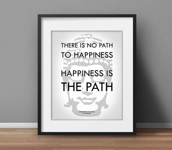 Buddha Quote Yoga poster Zen decor by SpiritualWiseGuys on Etsy