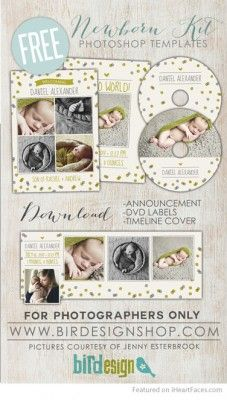 Baby Boy Birth Announcement - Free Birth Announcements for Newborn Photographers on I Heart Faces Photography Blog