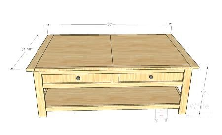coffee table with storage woodworking plans woodworking projects