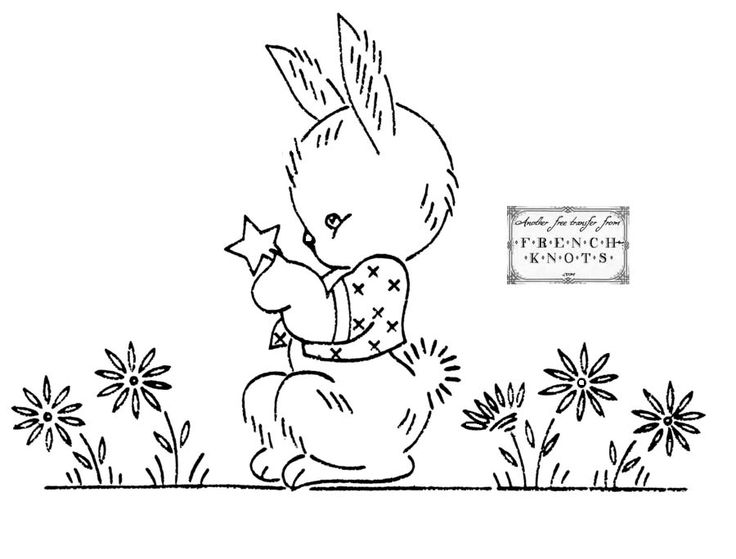 171 best Bunny embroidery patterns images on Pinterest