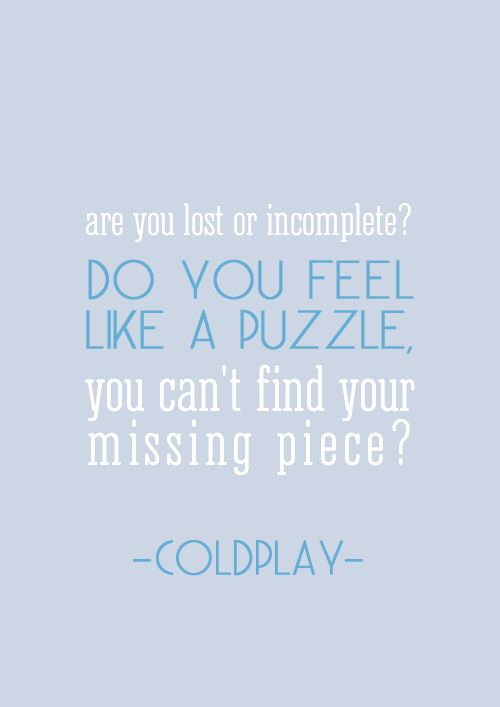In case you haven't guessed already, my favorite band is Coldplay. This song is called Talk