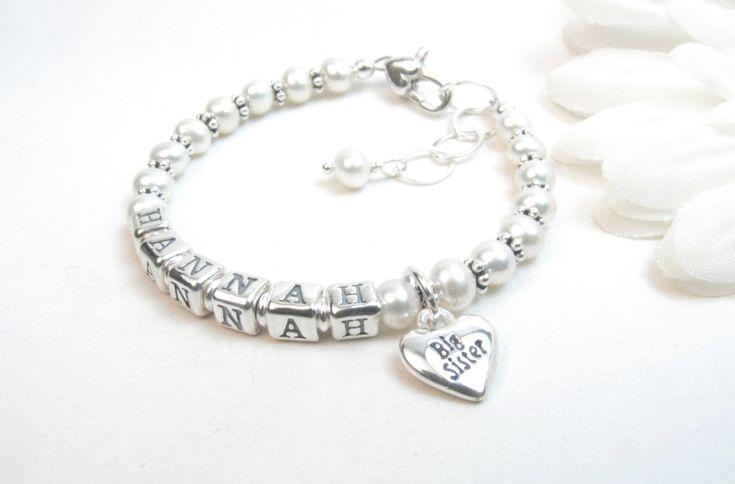 Big Sister Bracelet // Sister Jewelry // Big Sister Gift // Sister Bracelet // Big Sister Name Bracelet