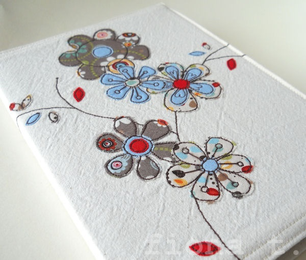 A5 embroidered floral notebook cover  £20.00