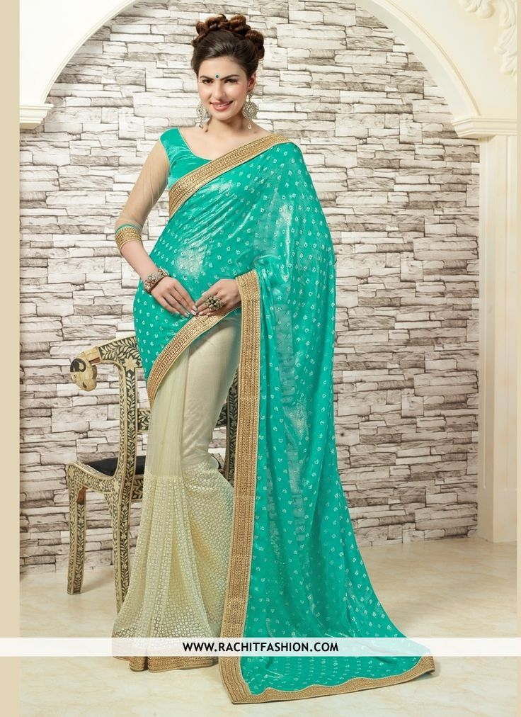 Buy Bewitching Brasso Exclusive Sarees In sea Green.