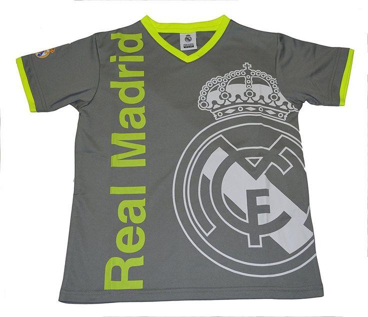 Real Madrid jersey Youth Boy Soccer Jersey Cristiano Ronaldo 7  Gray #Rhinox