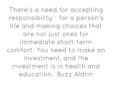 There's a need for accepting responsibility - for a person's...