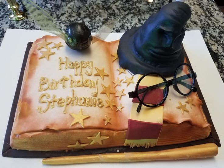 Cake turned out nice! Perfect! Harry Potter Party