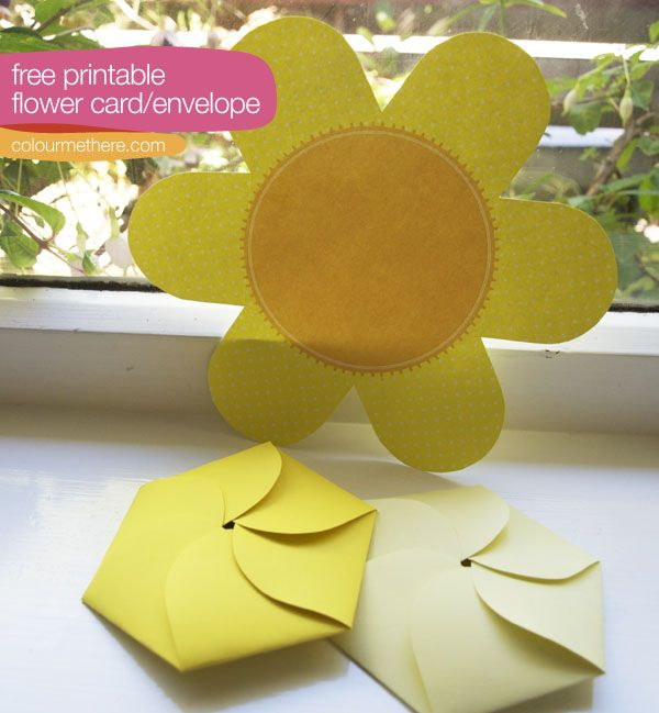 Freebie downloadable flower card. | Colour Me There
