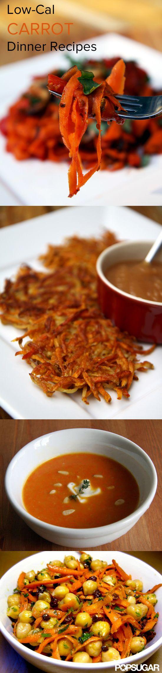 Low-cal carrot dinner recipes.
