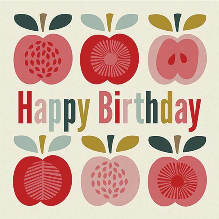 Une jolie carte double au motif pommes vintage pour lui souhaiter un joyeux anniversaire ! Fournie avec une enveloppe rouge. D : 12 x 12 cm. 1,90 € http://www.lafolleadresse.com/cartes/2782-carte-joyeux-anniversaire-pommes-vintage.html