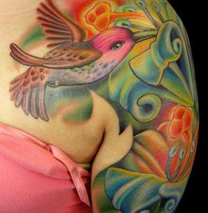 hummingbird tattoos | hummingbird tattoo thumb Hummingbird tattoo and its meaning