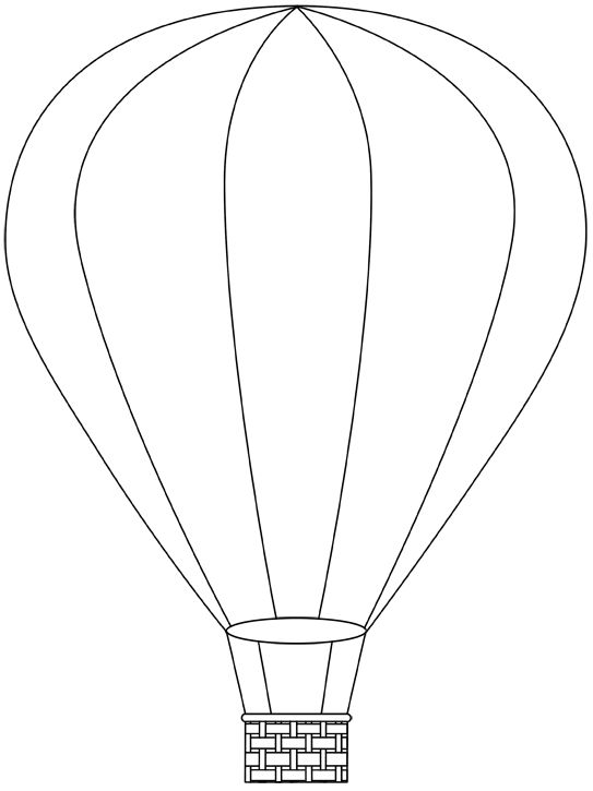 hot air balloon printable template | Free Digital Hot Air Balloon Stamps |