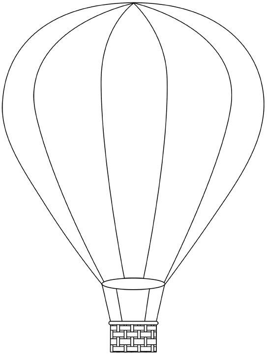 hot air balloon printable template | Free Digital Hot Air Balloon Stamps |