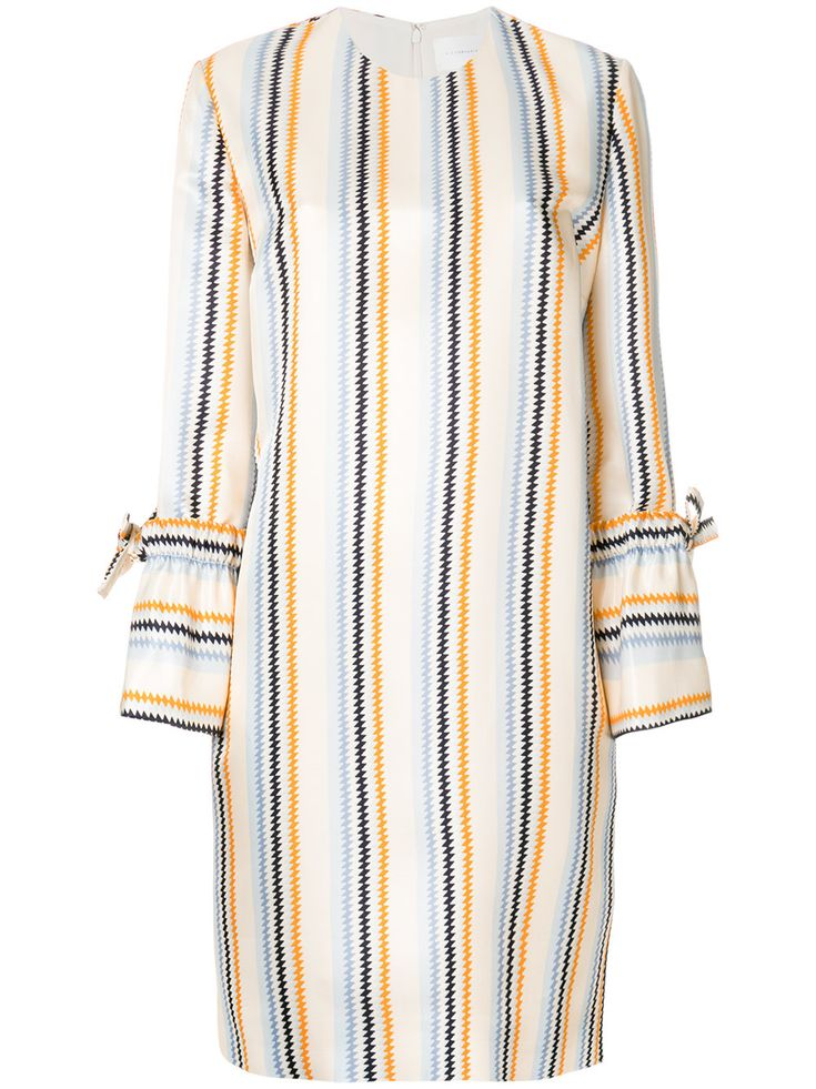 Victoria Victoria Beckham zig zag striped shift dress