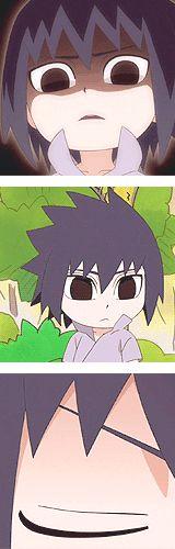 mine mygif naruto sasuke uchiha naruto gif uchiha sasuke naruto sd freaking tumblr made me desaturate the gifs jfc it looked fine before and now the colouring is all messed up sasuke is still cute though i don