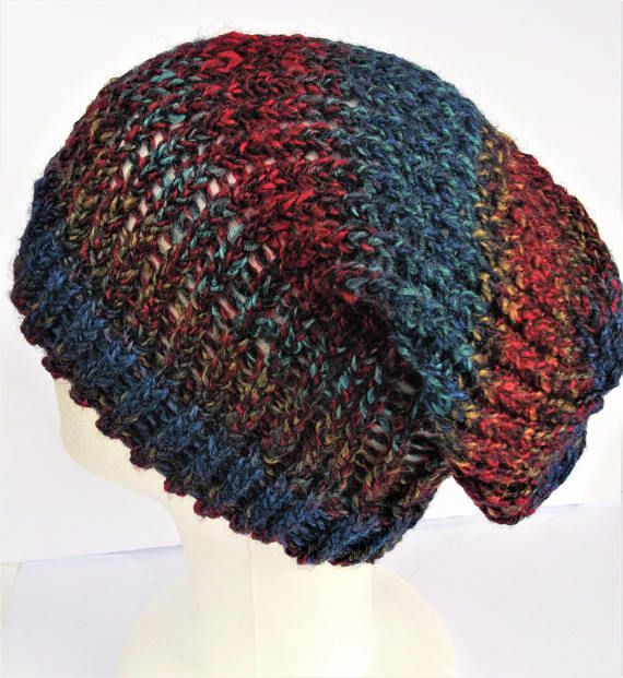 Check out this item in my Etsy shop https://www.etsy.com/uk/listing/499238939/blue-hipster-hat-blue-slouchy-beanie-red