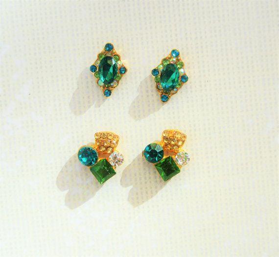 4 pcs of Green Nail Charms,Clustered Nails,Alloy Nail charm,3d nail Art,Wedding Nails,Nail Jewelry,Nail Bling,Nail Design,Nail Decoration,