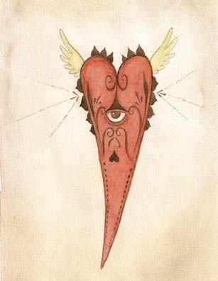 """Isadora Reimão """"Gosto de definir minhas pinturas de animais e monstros como auto-retratos 'não humanos'. Tento imaginar o sentimento dos primeiros navegantes, que fizeram retratos bizarros dos animais que encontraram em suas viagens. Talvez eles os tenham retratado dessa maneira estranha pelo forte impacto dessas visões."""