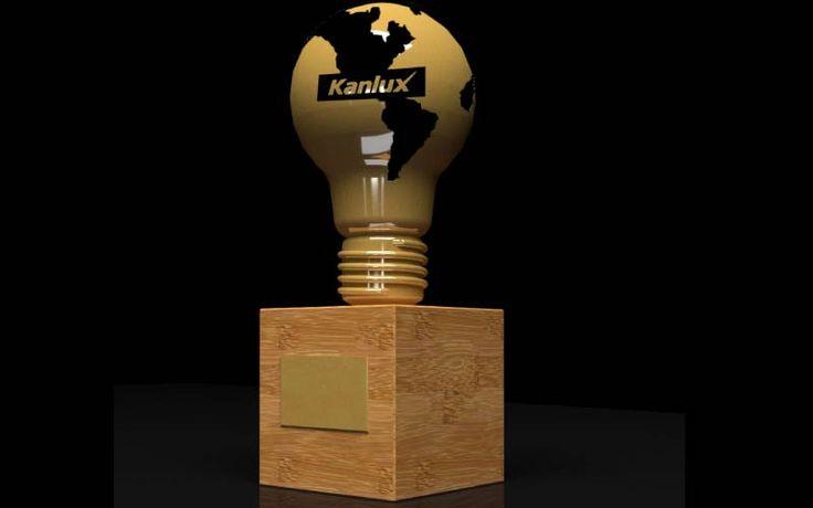 Projekt przygotowany Przez naszą firmę. Nagroda wykonana z mosiądzu oraz drewna. Żarówkę wykonaliśmy techniką odlewniczą.